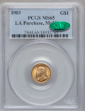 Commemorative Gold, 1903 G$1 Louisiana Purchase/McKinley MS65 PCGS. CAC....