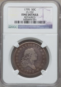 Early Half Dollars, 1795 50C 2 Leaves -- Repaired -- NGC Details. Fine. O-102, R.5....