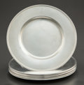 Silver Holloware, American:Plates, A SET OF EIGHT GORHAM SILVER BUTTER PLATES . Gorham ManufacturingCo., Providence, Rhode Island, circa 1914-1916. Marks: (li...(Total: 8 )