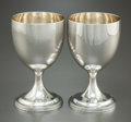 Silver Holloware, British:Holloware, A PAIR OF HANNAH NORTHCOTE GEORGE III SILVER AND SILVER GILTGOBLETS. Hannah Northcote, London, England, circa 1804-1805. Ma...(Total: 2 Items)