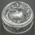 Silver Holloware, American:Boxes, AN UNGER BROTHERS ROUND HINGED LIDDED SILVER BOX . Unger Brothers,Newark, New Jersey, circa 1900. Marks: UB (interlaced...