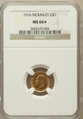 Commemorative Gold, 1916 G$1 McKinley MS66 ★ NGC....