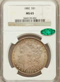 Morgan Dollars: , 1882 $1 MS65 NGC. CAC. NGC Census: (1160/251). PCGS Population(1258/212). Mintage: 11,101,100. Numismedia Wsl. Price for p...
