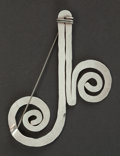 Silver Smalls:Other , AN ALEXANDER CALDER SILVER AND STEEL WIRE PIN . Alexander Calder(American, 1898-1976), New York, New York, circa 1950. Unma...