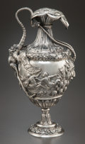 Silver Holloware, Continental:Holloware, A HANAU SILVER EWER. Maker unidentified, Hanau, Germany, circa1900. Marks: (berried branch). 11 inches high (27.9 cm). 33.2...
