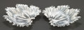Silver Holloware, Continental:Holloware, A PAIR OF BUCCELLATI ITALIAN SILVER LEAF-FORM DISHES . Buccellati,Milan, Italy, circa 1950. Marks: GIANMARIA BUCCELLATI, ...(Total: 2 Items)