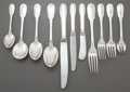 Silver & Vertu:Flatware, A TWO HUNDRED SIXTY-FOUR PIECE CHRISTOFLE CLUNY PATTERN SILVER-PLATED FLATWARE SERVICE . Christofle, Paris, Fran... (Total: 264 Items)