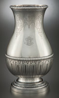 Silver Holloware, French:Holloware, A FRENCH SILVER VASE ATTRIBUTED TO JEAN PUIFORCAT . France, circa 1900. Marks: (Minerva), STERLING, MADE IN FRANCE, GROGA...