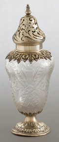 Silver Holloware, American:Other , A DURGIN SILVER AND CUT GLASS SHAKER . Wm. B. Durgin Co., Concord,New Hampshire, circa 1890. Marks: STERLING, 164, (eff...