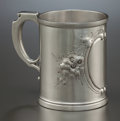 Silver Holloware, American:Cups, A WOOD & HUGHES SILVER CUP. Wood & Hughes, New York, NewYork, circa 1833-1871. Marks: W&H, STERLING, 6. 4-3/4inches hi...