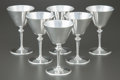 Silver Holloware, American:Water Goblet, A SET OF SIX TIFFANY & CO. SILVER GOBLETS . Tiffany & Co.,New York, New York, post 1965. Marks: TIFFANY & CO, STERLINGSI... (Total: 6 Items)