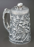 Silver & Vertu:Hollowware, AN S. KIRK & SON COVERED SILVER TANKARD. S. Kirk & Son, Baltimore, Maryland, circa 1880-1890. Marks: S KIRK & SON (parti... (Total: 2 Items)