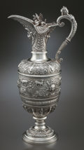 Silver Holloware, British:Holloware, A J.&H. SAVORY VICTORIAN CELLINI PATTERN SILVER WINEEWER . Joseph & Horace Savory, London, England, circa 1885-...