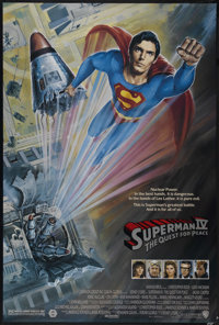 """Superman IV: The Quest for Peace (Warner Brothers, 1987). One Sheet (27"""" X 41""""). Adventure. Directed by Sidney..."""