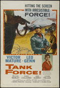 "Movie Posters:War, Tank Force (Columbia, 1958). One Sheet (27"" X 41""). War. Directedby Terence Young. Starring Victor Mature, Anthony Newley, ..."