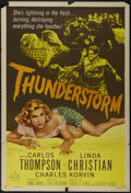 """Movie Posters:Drama, Thunderstorm (Allied Artists, 1956). One Sheet (27"""" X 41"""") Style A. Drama. Directed by John Guillermin. Starring Carlos Thom..."""