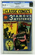 Golden Age (1938-1955):Classics Illustrated, Classic Comics #21 Three Famous Mysteries - Original Edition(Gilberton, 1944) CGC VF 8.0 Off-white pages. This is one of th...