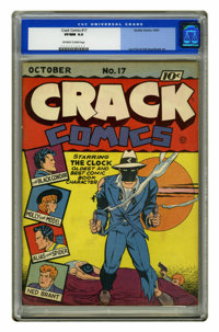 Crack Comics #17 (Quality, 1941) CGC VF/NM 9.0 Off-white to white pages. The copy blurb on this issue's cover claims &qu...