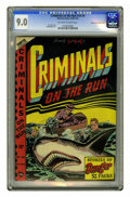 """Golden Age (1938-1955):Crime, Criminals on the Run V4#4 Mile High pedigree (Curtis, 1948) CGC VF/NM 9.0 Off-white to white pages. """"Oh, the shark bites...""""..."""