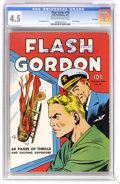 Golden Age (1938-1955):Science Fiction, Four Color #10 Flash Gordon - File Copy (Dell, 1942) CGC VG+ 4.5 Off-white to white pages. Alex Raymond art. Overstreet 2006...