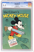 Golden Age (1938-1955):Cartoon Character, Four Color #27 Mickey Mouse - File Copy (Dell, 1943) CGC FN- 5.5 Off-white pages. Minnie and Mickey Mouse pin-ups. Overstree...