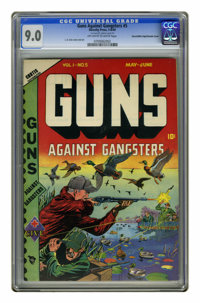 Guns Against Gangsters #5 Mile High pedigree - Double Cover (Novelty Press, 1949) CGC VF/NM 9.0 Off-white to white pages...