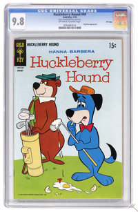 Huckleberry Hound #40 File Copy (Gold Key, 1970) CGC NM/MT 9.8 Off-white to white pages. Yogi Bear appearance. Overstree...