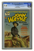 Golden Age (1938-1955):Western, John Wayne Adventure Comics #1 (Toby Publishing, 1949) CGC FN/VF7.0 Cream to off-white pages. The Duke parlayed his tremend...