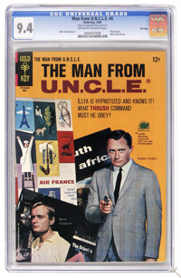 Man from U.N.C.L.E. #6 File Copy (Gold Key, 1966) CGC NM 9.4 Off-white to white pages. Photo cover of Robert Vaughn and...