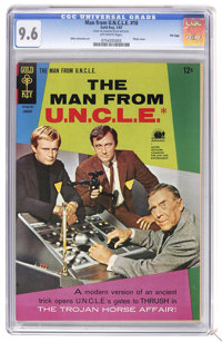 Man from U.N.C.L.E. #10 File Copy (Gold Key, 1967) CGC NM+ 9.6 Off-white pages. Photo cover. Mike Sekowsky art. This cop...