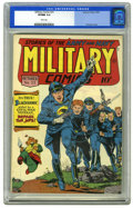 Golden Age (1938-1955):War, Military Comics #33 (Quality, 1944) CGC VF/NM 9.0 White pages. Thisis the highest-graded copy yet certified of this white-c...