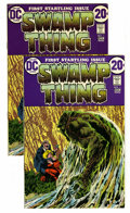 Bronze Age (1970-1979):Horror, Swamp Thing #1 Multiple Copies Group (DC, 1972) Condition: AverageFN/VF. Two copies. Bernie Wrightson cover and art. First ...(Total: 2 Comic Books)