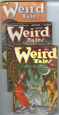 Pulps:Horror, Weird Tales (Pulp) Group (Popular Fiction, 1950-53). This lot consists of issues dated Jan/50 (VG+); March/50 (GD-); May/50 ... (Total: 8 Items)