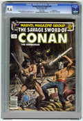 Magazines:Superhero, Savage Sword of Conan #92 Double Cover (Marvel, 1983) CGC NM+ 9.6White pages. This issue has nice cover art by Bob Larkin a...