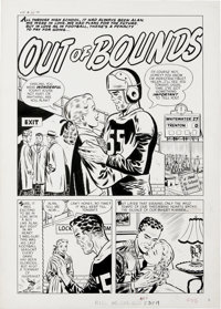 "Warren Kremer - Hi-School Romance #50 Complete 5-page Story ""Out of Bounds"" Original Art (Harvey, 1956). Lush..."