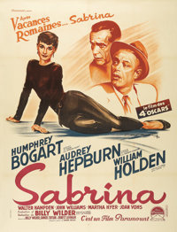 """Sabrina (Paramount, 1954). French Grande (47"""" X 63""""). This is the French poster master, Roger Soubie's, take o..."""