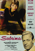 "Movie Posters:Romance, Sabrina (Paramount, R-1962). Italian Photobusta (19"" X 27""). Beautiful re-issue Photobusta of Audrey Hepburn from the Billy ..."
