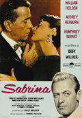 "Movie Posters:Romance, Sabrina (Paramount, R-1962). Italian Photobusta (18.5"" X 27""). This reissue Italian photobusta features a beautiful shot of ..."