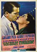 "Movie Posters:Romance, Roman Holiday (Paramount, R-1960). Italian 2 Folio (39"" X 55"").Audrey Hepburn, Gregory Peck, Eddie Albert and the city of R..."