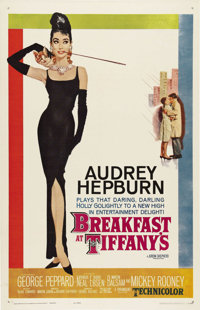"Breakfast at Tiffany's (Paramount, 1961). One Sheet (27"" X 41""). Audrey Hepburn stars in Truman Capote's story..."