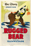 "Movie Posters:Animated, Rugged Bear (RKO, 1953). One Sheet (27"" X 41""). Humphrey the Beardecides to hide out at Donald's house during hunting seaso..."