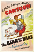 """Movie Posters:Animated, The Bear and the Hare (MGM, 1947). One Sheet (27"""" X 41""""). Barneythe Bear is rabbit hunting on this beautiful MGM Technicolo..."""