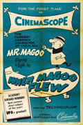 "Movie Posters:Animated, Mr. Magoo Lot (Columbia, 1954/1955). One Sheets (2) (27"" X 41"").Our near-sighted hero finds himself in love and saving the ...(Total: 2 Items)"