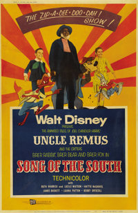 "Song of the South (RKO, R-1956). Poster (40"" X 60""). ""Song of the South"" is a blend of live action a..."