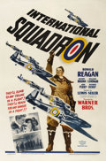 "Movie Posters:War, International Squadron (Warner Brothers, 1941). One Sheet (27"" X41""). Ronald Reagan stars as an American pilot who joins th..."