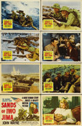 "Movie Posters:War, Sands of Iwo Jima (Republic, 1950). Lobby Card Set of 8 (11"" X14""). Allan Dwan directs John Wayne to his first Oscar nomina...(Total: 8 Items)"