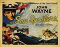 """Movie Posters:War, Sea Spoilers (Universal, 1936). Title Lobby Card (11"""" X 14""""). JohnWayne is cast as the skipper of a Coast Guard cutter who ..."""