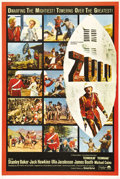 "Movie Posters:War, Zulu (Paramount, 1964). One Sheet (27"" X 41"") Double-Sided Advance.This very rare one sheet was presumably made for a roads..."