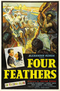 "Movie Posters:Action, The Four Feathers (United Artists, 1939). One Sheet (27"" X 41"").One of the earliest British films in three strip Technicolo..."
