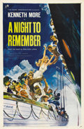 """Movie Posters:Drama, A Night to Remember (Rank, 1959). One Sheet (27"""" X 41""""). A lessromantic, but perhaps more accurate telling of the Titanic d..."""